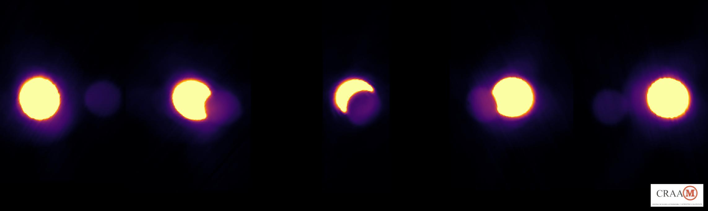 Eclipse Solar em Ondas de Rádio